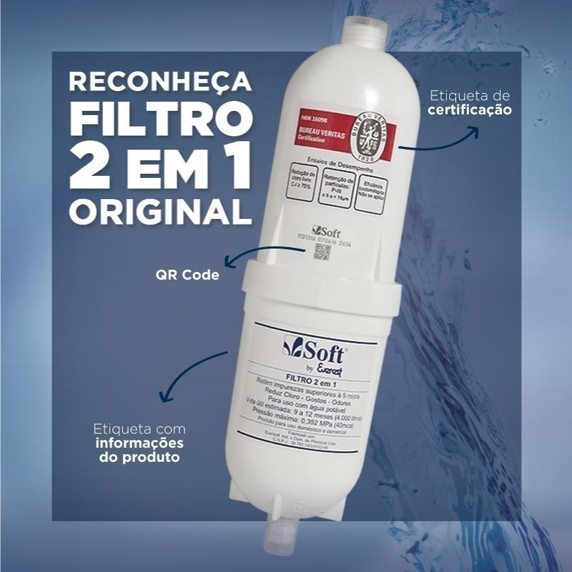 Refil Soft Everest Filtro 2 em 1 Original